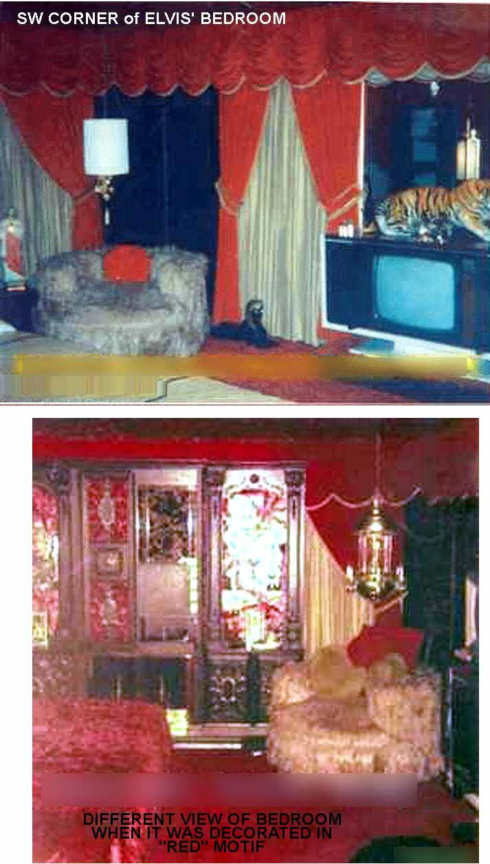 Elvis Presley's Bedroom at Graceland
